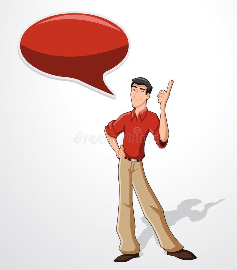 Download Cartoon man talking stock vector. Image of communication - 21364992