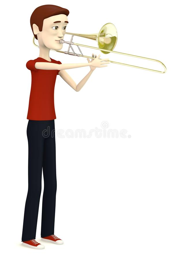 Download Cartoon man with trumpet stock illustration. Image of instrument - 31261666