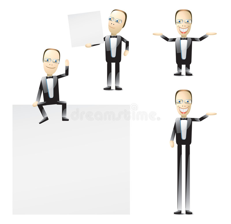 Download Cartoon man in tuxedo stock vector. Illustration of white - 7911106