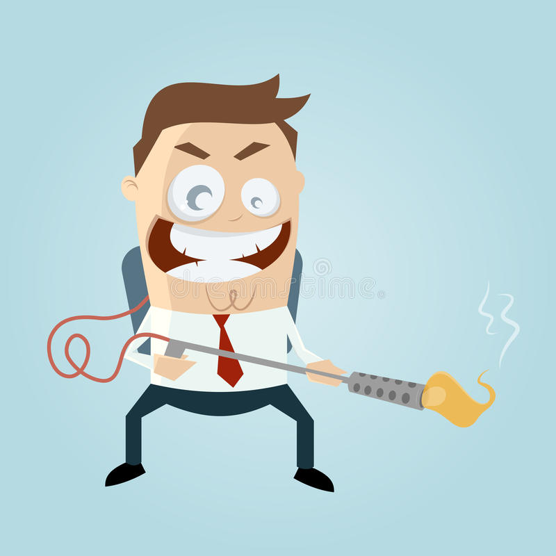 Free Cartoon Man With Flamethrower Royalty Free Stock Images - 35875289