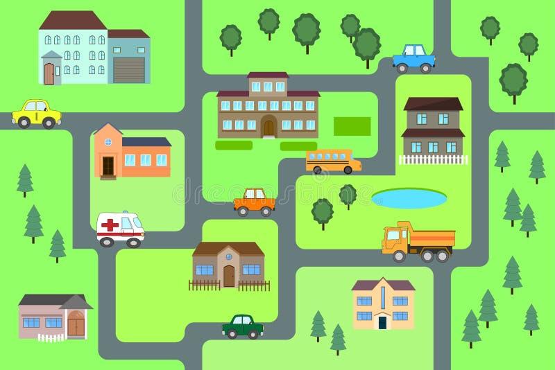 Cartoon map seamless pattern. royalty free illustration