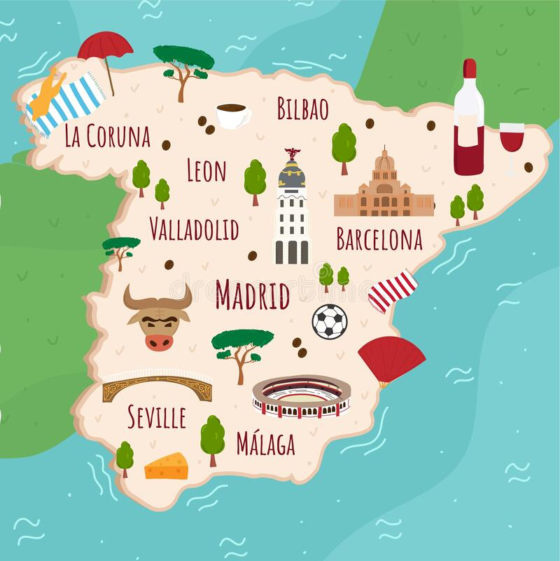 Cartoon Map Spain Stock Illustrations 593 Cartoon Map Spain Stock Illustrations Vectors Clipart Dreamstime