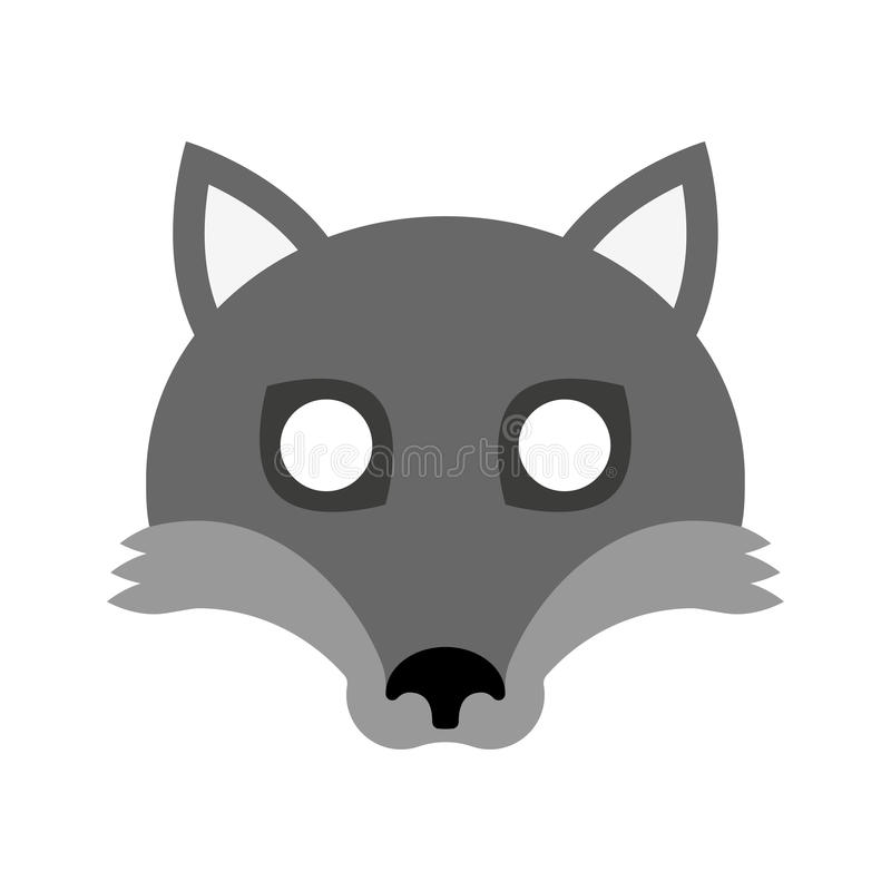 Cartoon mask of wolf for halloween vector illustration