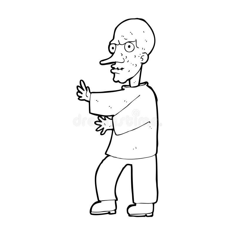 Download Cartoon mean looking man stock illustration. Image of design - 37023159