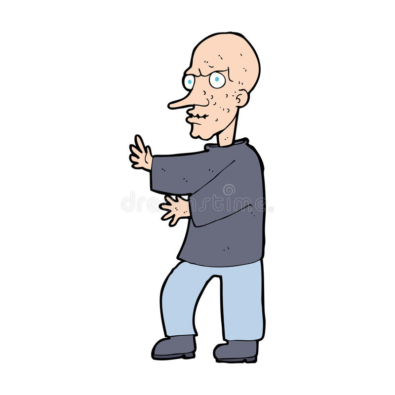 cartoon mean looking man