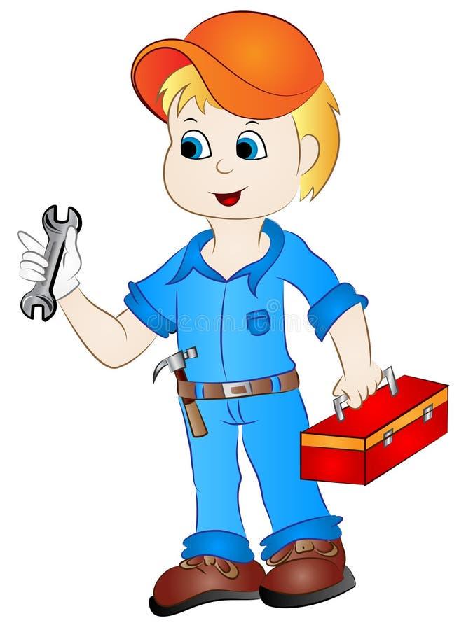 cartoon mechanic handyman clip art stock vector illustration of rh dreamstime com handyman clip art free download handyman clip art free online