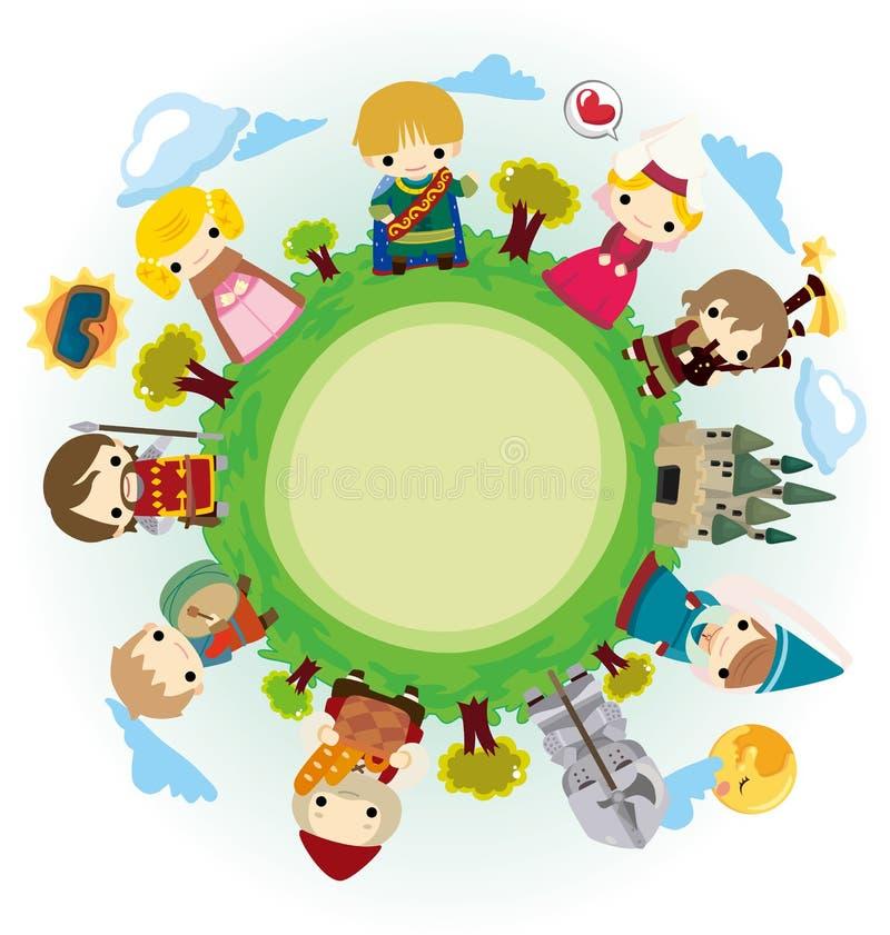 Download Cartoon Medieval People Around World Stock Vector - Illustration: 22664665