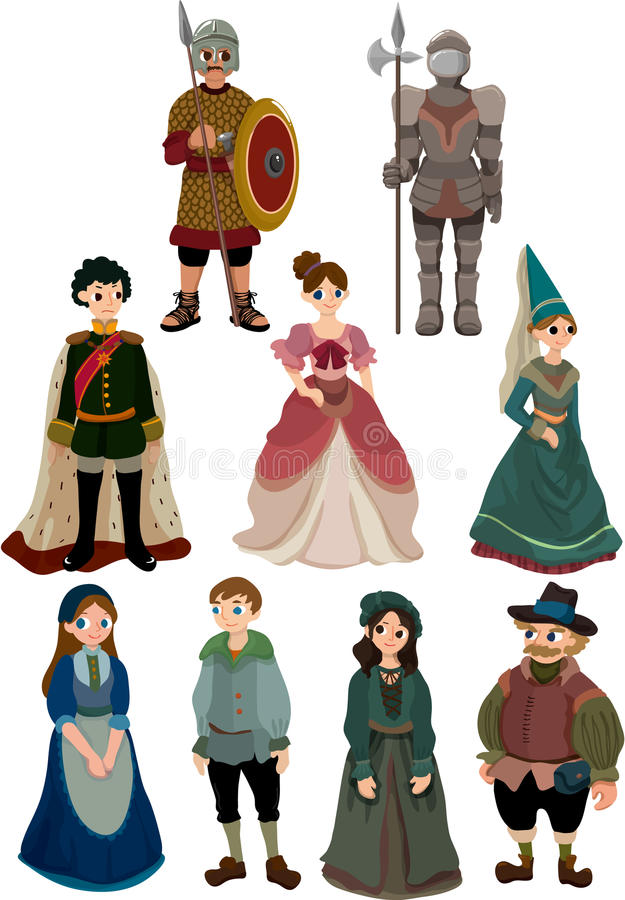 Download Cartoon Medieval People Icon Stock Vector - Image: 18044698