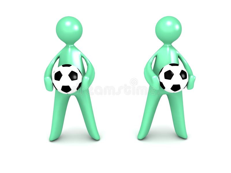 Download Cartoon Men With Soccer Ball Royalty Free Stock Photography - Image: 26372657