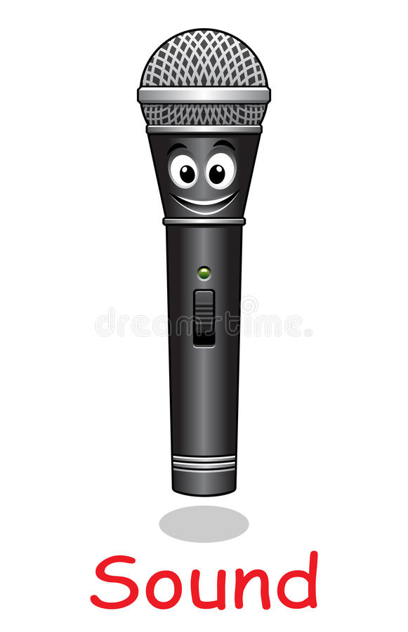cartoon microphone character stock vector illustration of rh dreamstime com cartoon microphone drawing cartoon microphone png