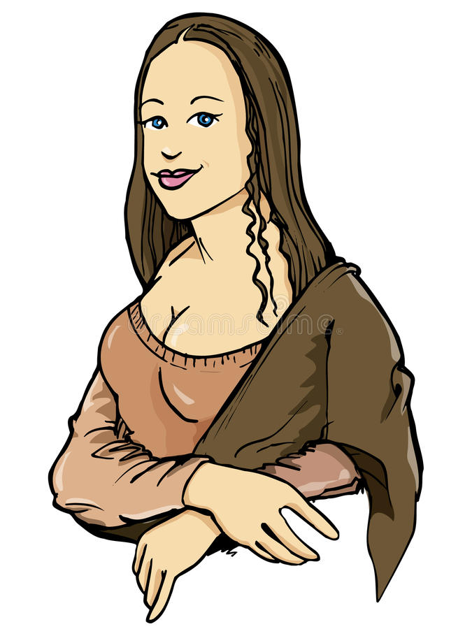 Download Cartoon Of The Mona Lisa With Her Smile Stock Photos - Image: 21018373