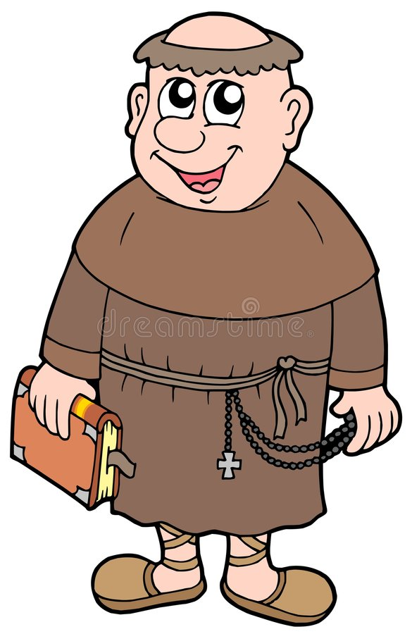 Cartoon monk royalty free illustration