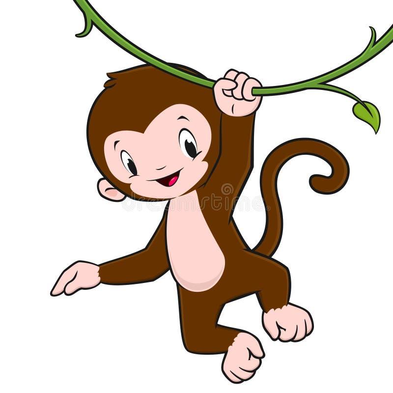 cartoon monkey stock vector illustration of swing  mascot baby monkey clip art free baby shower monkey clip art