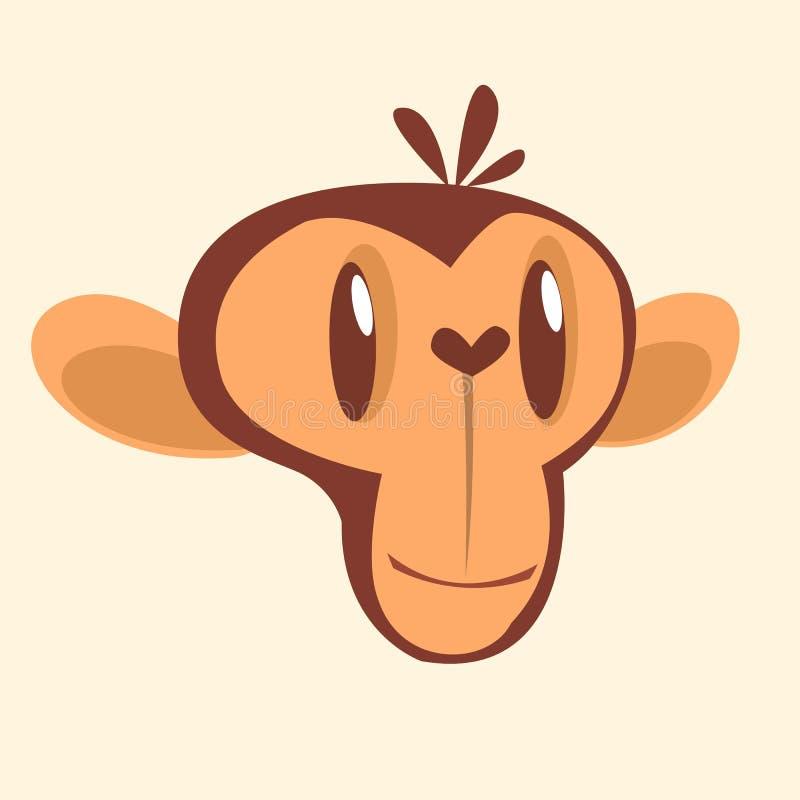 cartoon monkey head flat color icon of chimpanzee character stock rh dreamstime com cartoon monkey hanging from tree cartoon monkey scratching head