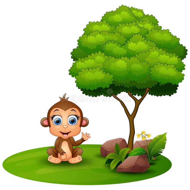 Monkey Climbing Tree Cartoon Vector Clipart - FriendlyStock   Monkey  illustration, Tree drawing, Cartoon garden