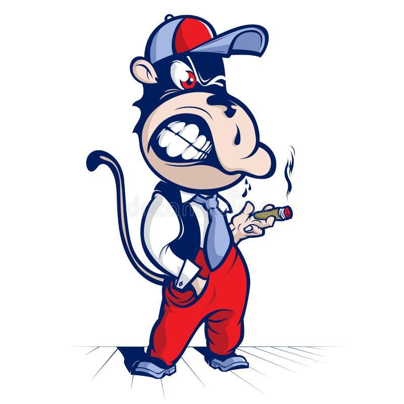 Download Cartoon monkey smoke stock vector. Image of cute, beauty - 23951697