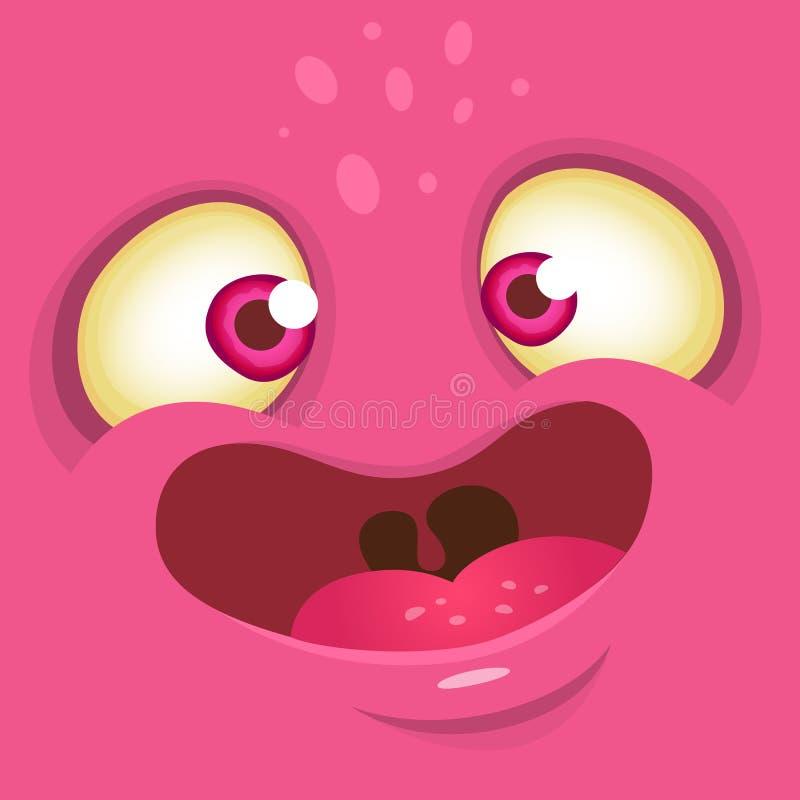 Cartoon monster face. Vector Halloween illustration. vector illustration
