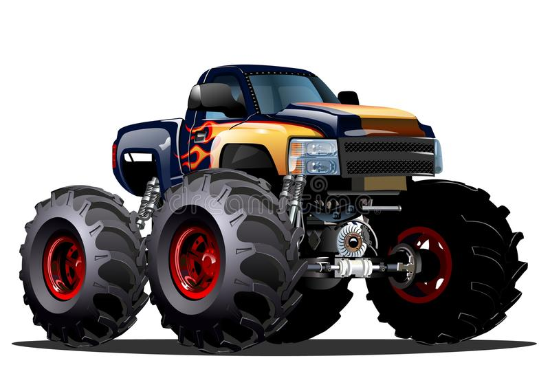 Cartoon Monster Truck. Available EPS-10 vector formats separated by groups and layers for easy edit vector illustration