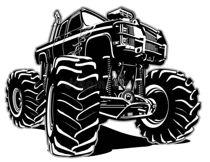 Cartoon Monster Truck stock illustration