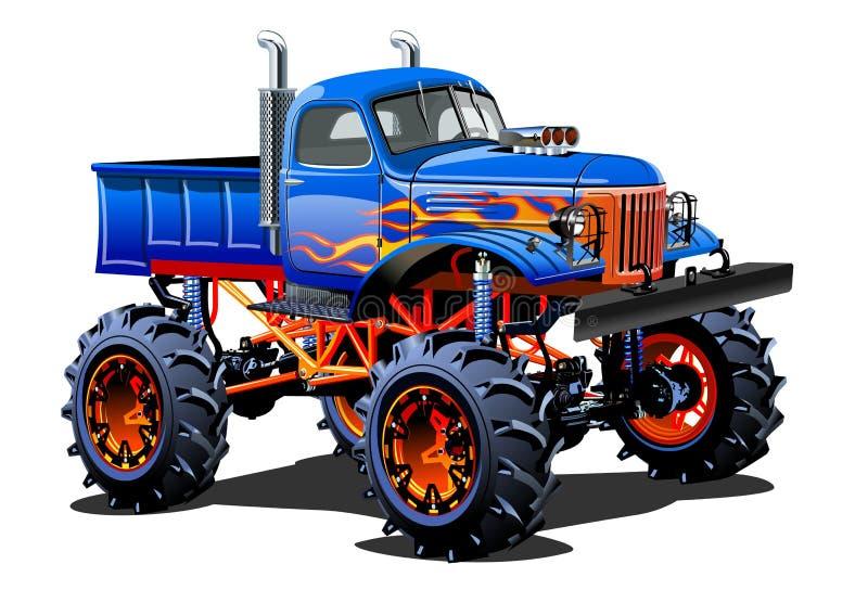 Cartoon Monster Truck royalty free illustration