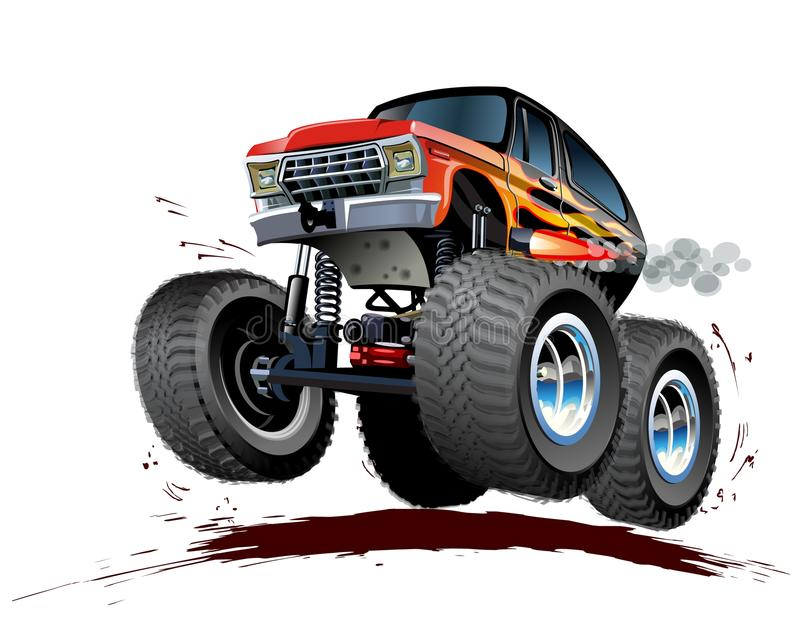 Cartoon Monster Truck. Vector Cartoon Monster Truck. Available EPS-10 vector format separated by groups and layers for easy edit royalty free illustration