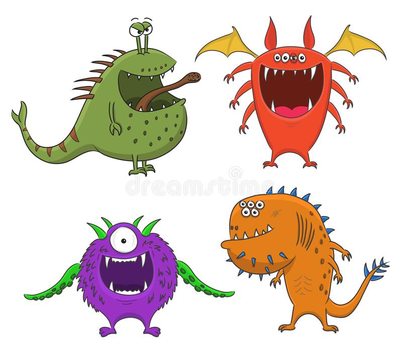 Cartoon Monsters collection. stock photo
