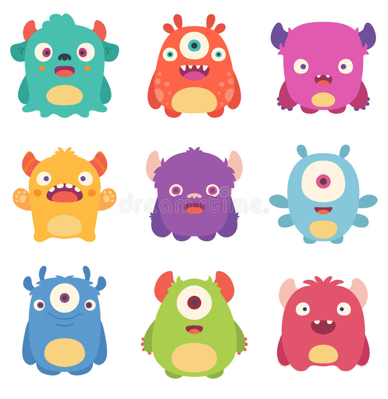 Cartoon Monsters vector illustration
