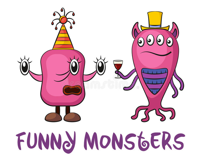 Cartoon Monsters Set vector illustration