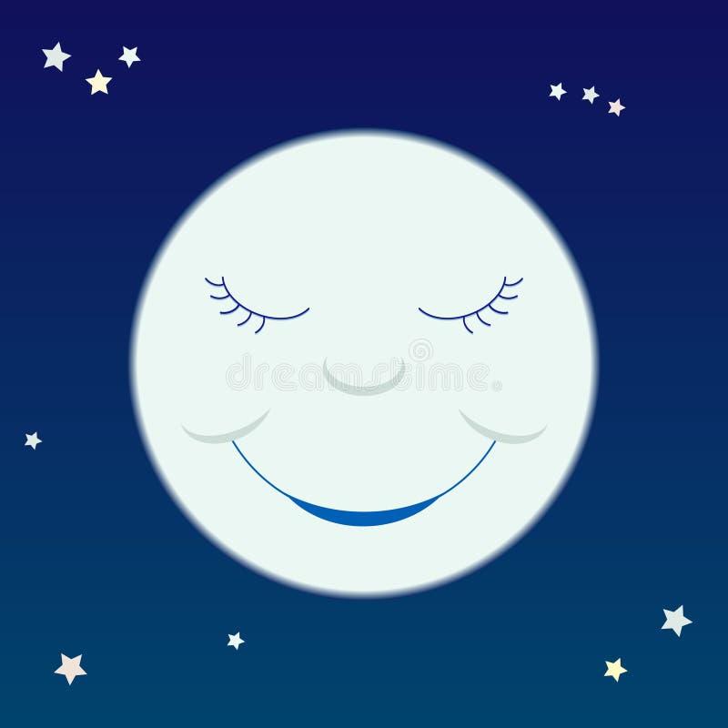 Cartoon moon vector illustration