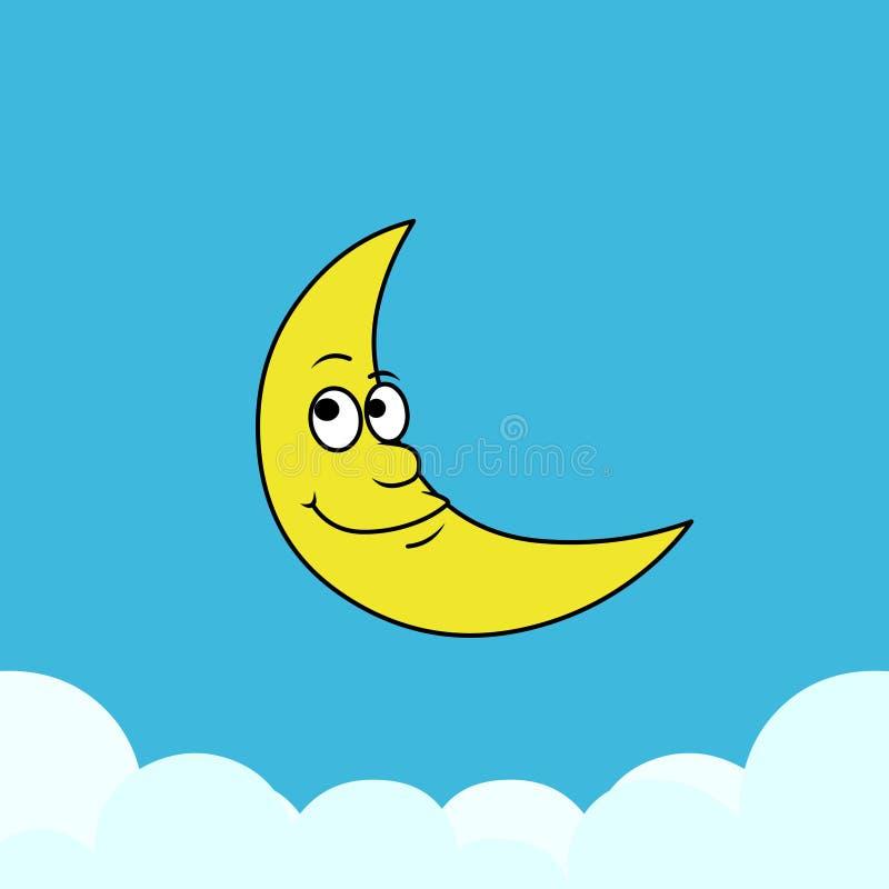Cartoon moon.Vector illustration of moon with background vector illustration
