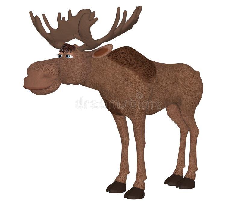 Cartoon moose vector illustration