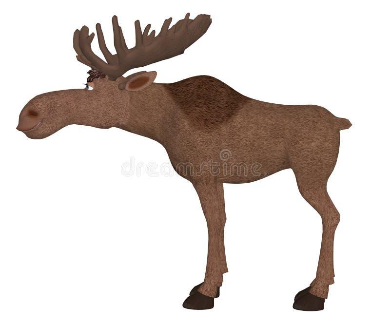 Cartoon moose royalty free illustration