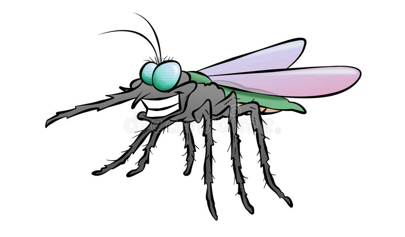 Cartoon Mosquito Stock Image