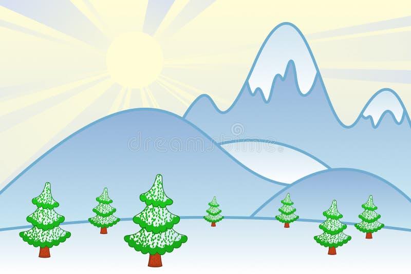 Cartoon Mountains stock illustration