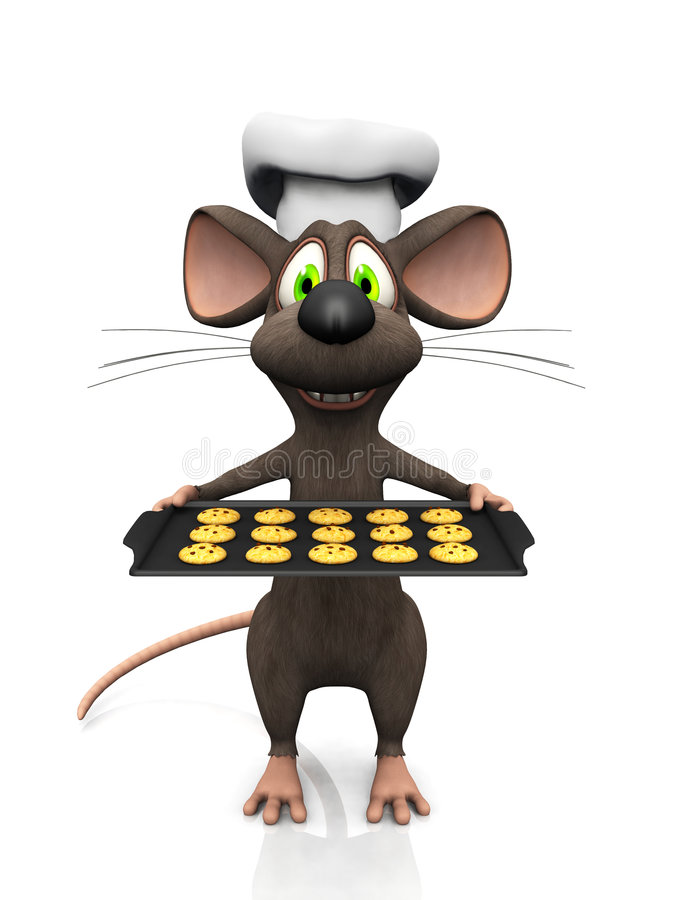 Download Cartoon mouse baker. stock illustration. Illustration of toon - 9099357