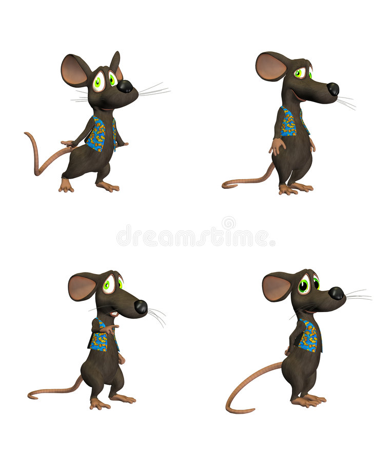 Cartoon Mouse - pack2 stock illustration