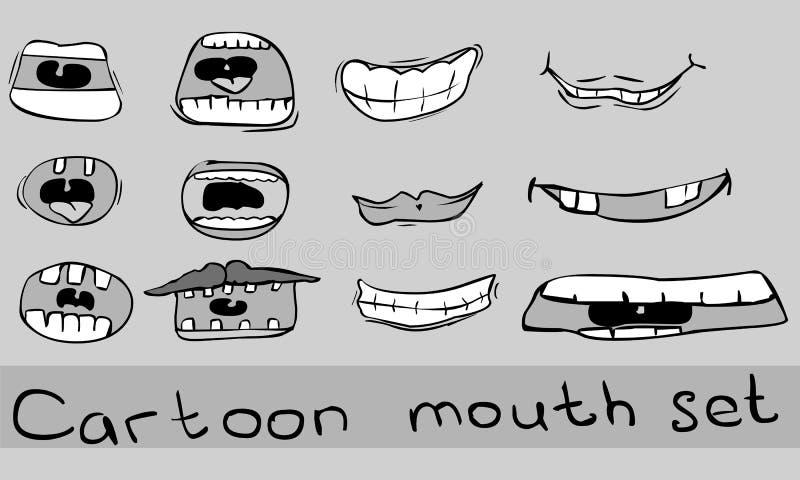 Cartoon Mouth Set Stock Photography