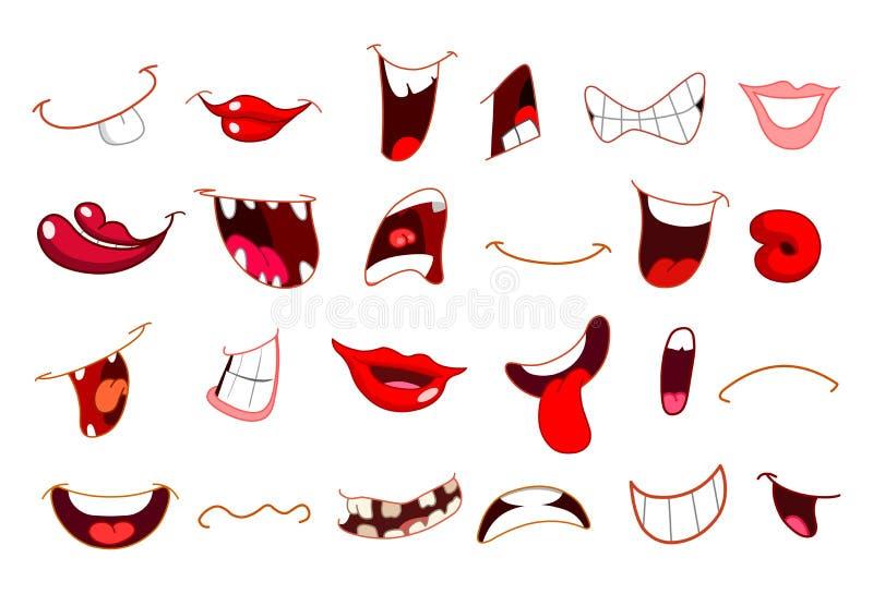 Cartoon mouths vector illustration