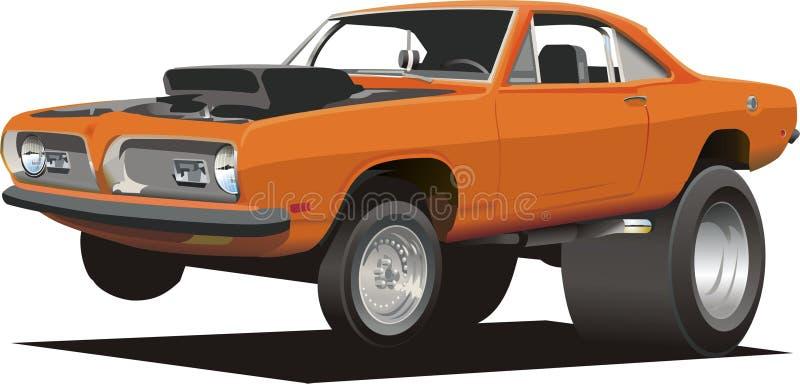 Cartoon Muscle Car stock images