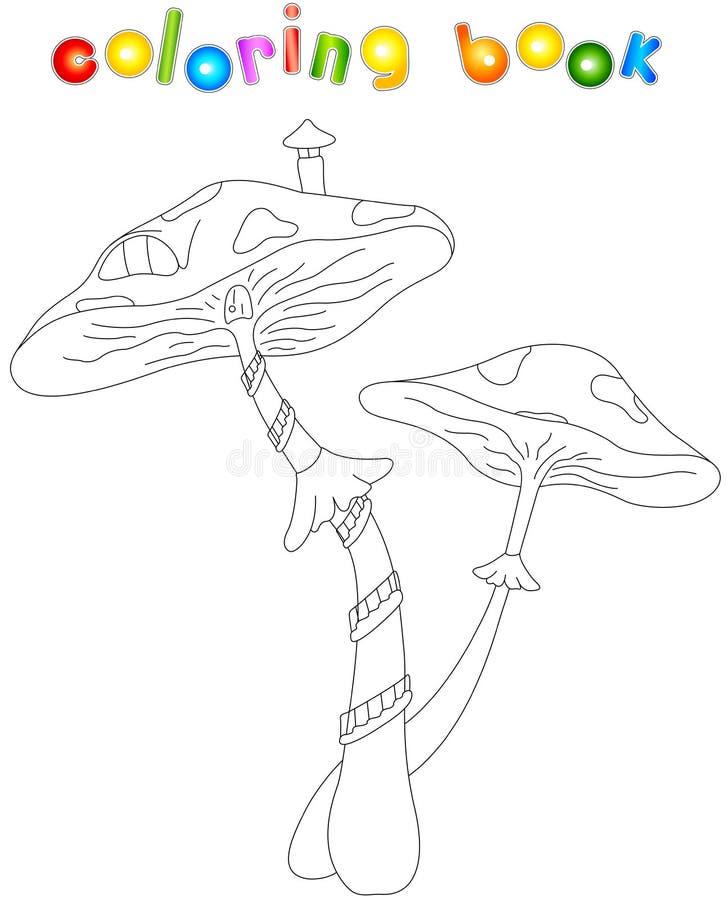 Cartoon mushroom house vector illustration