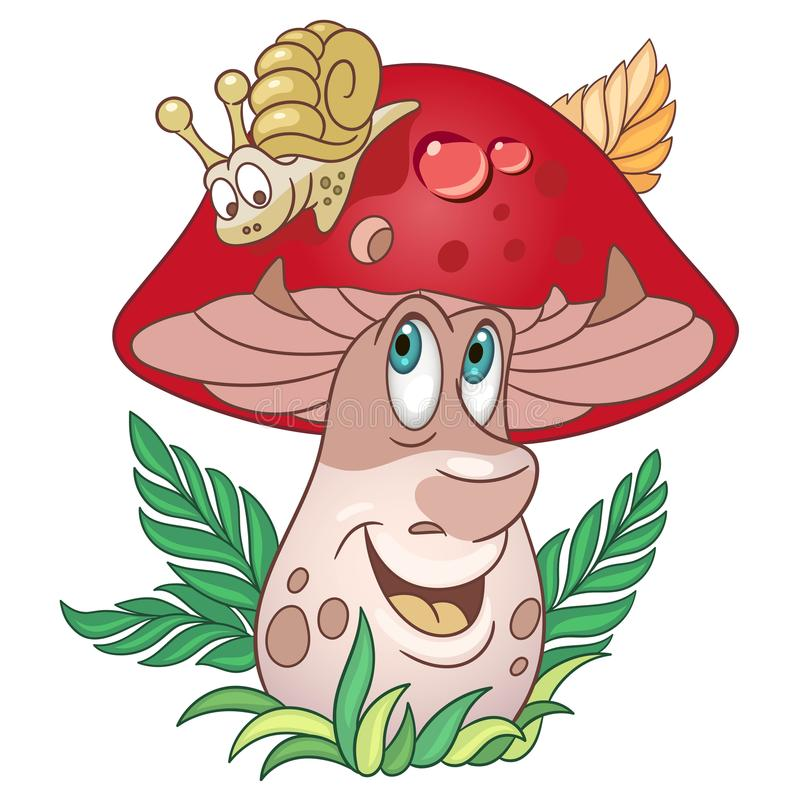 Cartoon Mushroom Porcini boletus royalty free illustration