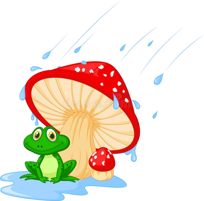 Free Cartoon Mushroom With A Toad Royalty Free Stock Photo - 34608185