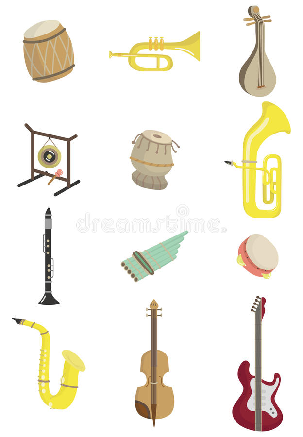 Download Cartoon Musical Instrument Icon Stock Vector - Image: 18013538