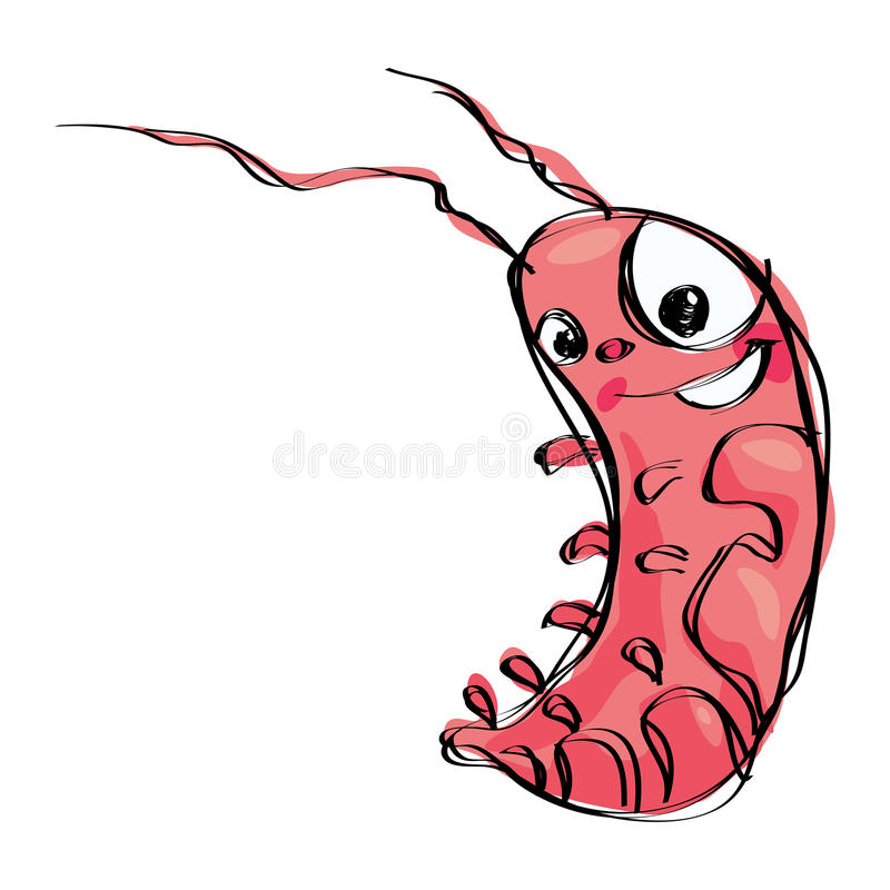 Download Cartoon Naif Baby Smiling Shrimp In A Naif Childish Drawing Styl Stock Photography - Image: 30456032