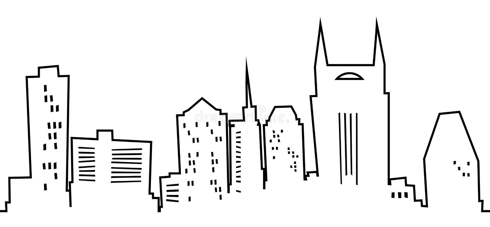 Cartoon Nashville. Cartoon skyline of the city of Nashville