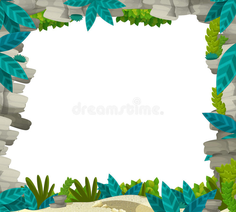 Cartoon Nature Frame For Different Usage - Illustration For Children ...