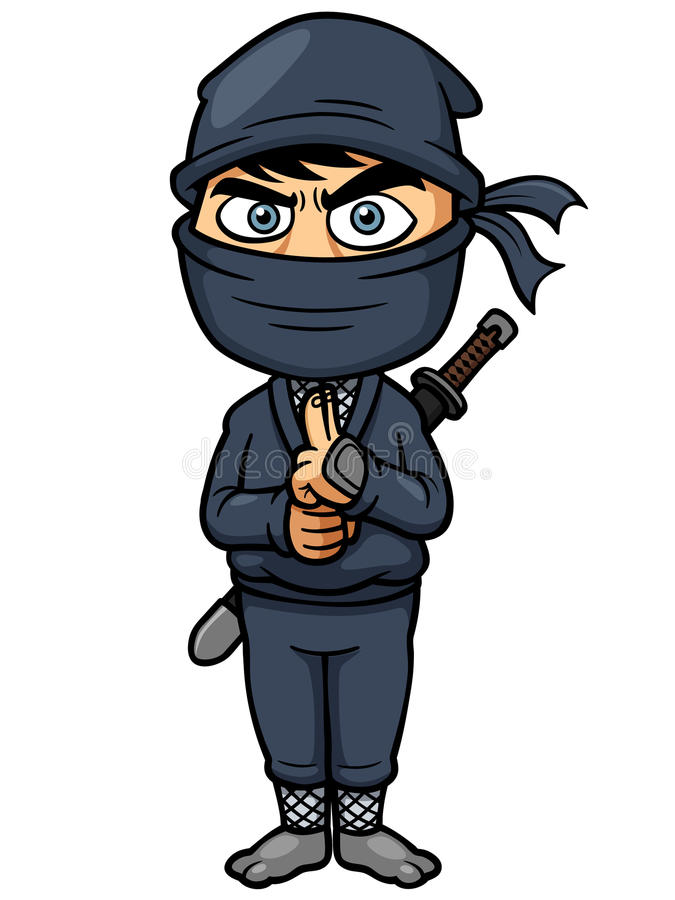 Cartoon Ninja. Vector illustration of Cartoon Ninja royalty free illustration
