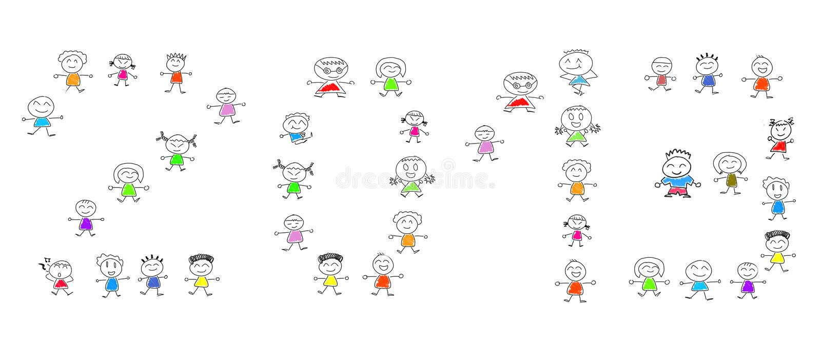 Download Cartoon Numbers 2013 And Many Children Royalty Free Stock Photo - Image: 27484195