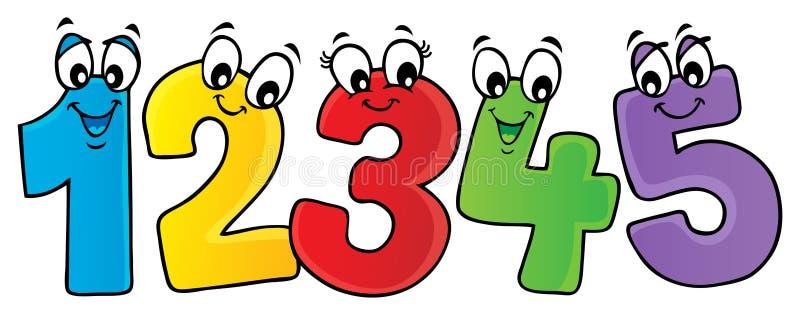 Cartoon numbers theme image 2 vector illustration