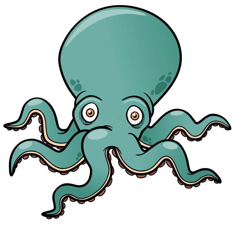 Cartoon octopus stock illustration